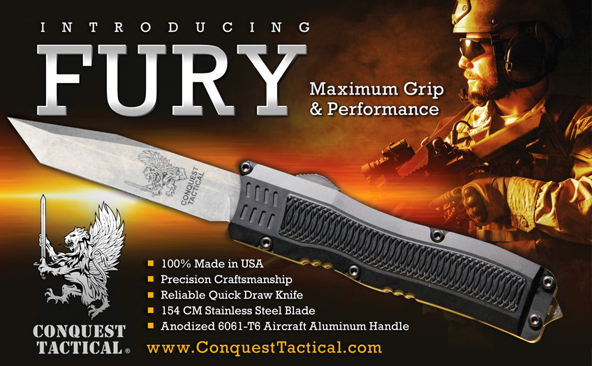 Fury OTF Knife – Conquest Tactical